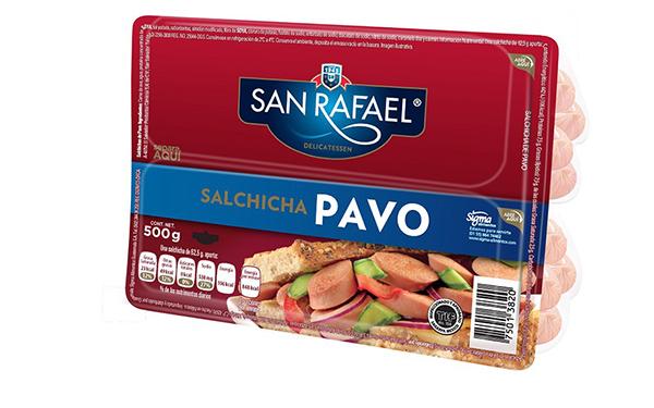 Salchichas de pechuga de pavo San Rafael (empaque con 500 gramos)