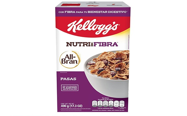 All-Bran Pasas Nutrifribra de Kellogg´s (caja de 490 gramos)