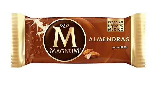 Magnum Almendras, paleta/helado de crema vegetal (90 mililitros, 1 paleta)