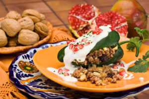 Chile en nogada y sus ingredientes