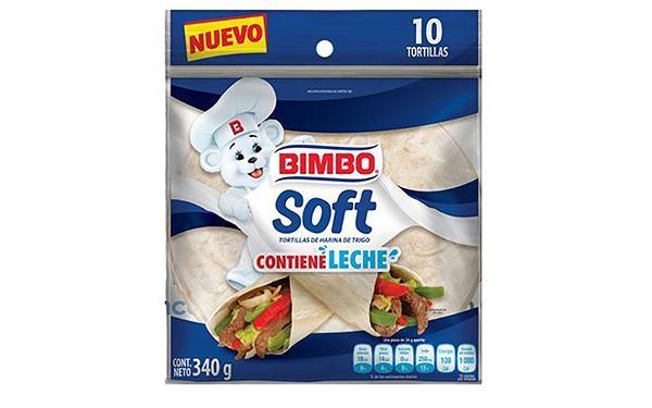 Tortillas Soft de harina de trigo de Bimbo (paquete de 340 gramos, 34 gramos por cada pieza)