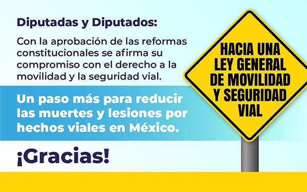 Banner ilustrado con la leyenda Hacia una Ley General de Movilidad y Seguridad Vial