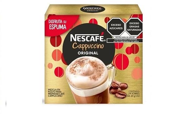 Caja de sobres de Nescafé Cappuccino Original