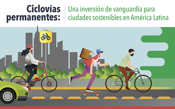 Banner ilustrado de la ciclovías permamentes como una inversión de vanguardia
