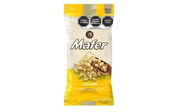 Cacahuates Salados Mafer (paquete con 180 gramos)