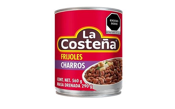 Frijoles charros La Costeña (lata de 560 gramos)