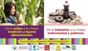 """Ejemplo de cartel de la segunda etapa de la campaña """"Por el derecho a una vida sana, Oaxaca sin Chatarra"""""""