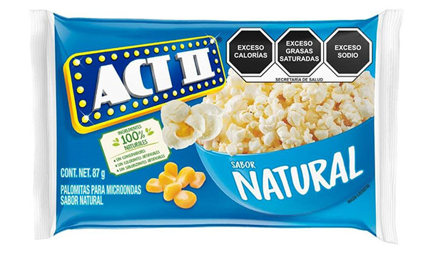 Palomitas Act II Sabor Natural, para microondas (1 paquete, 87 gramos)