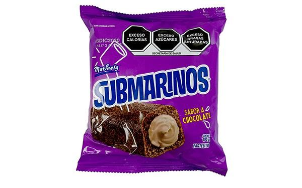 Submarinos Marinela sabor chocolate de Bimbo (paquete 105 gramos)