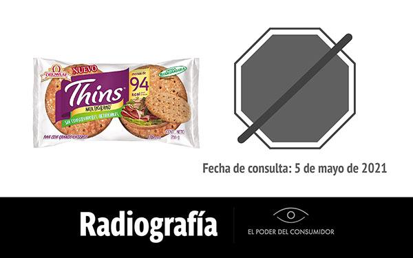 Banner de la radiografía del pan Thins multigrano Oroweat de Bimbo
