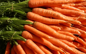 Manojos de zanahorias
