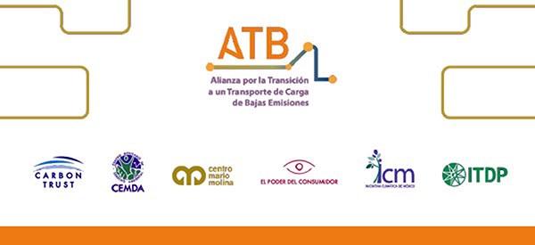 Banner de la Alianza por la Transición a un Transporte de Carga de Bajas Emisiones (ATB)