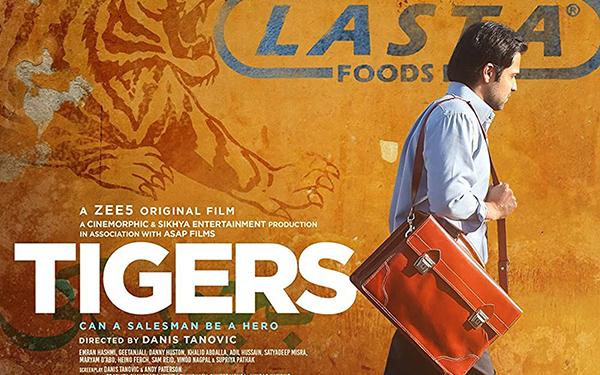 Fragmento del cartel promocional de la película Tigers, del director bosnio Danis Tanovíc