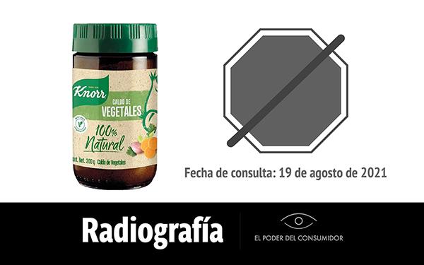 Banner de la radiografía del del sazonador Caldo de Vegetales Knorr