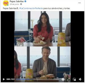 Publicidad de las papas Sabritas con participación de celebridades públicas